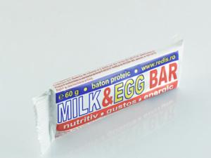 Milk Egg Baton Proteic Redis 60g