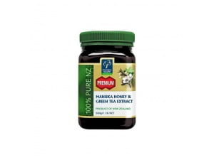 Miere de  Manuka Premium cu Extract de Ceai Verde 500g