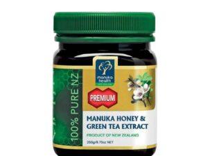 Miere de  Manuka Premium cu Extract de Ceai Verde 250g