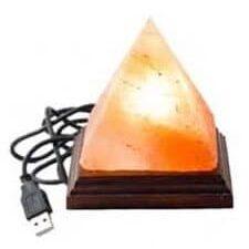 Lampa Electrica din Sare de Nimalaya Piramida cu USB 0,5 kg, Monte