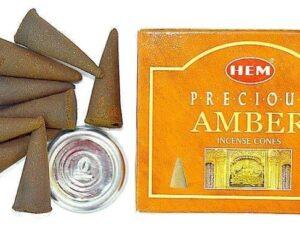 Conuri Parfumate Ambra Palo Santo 10buc