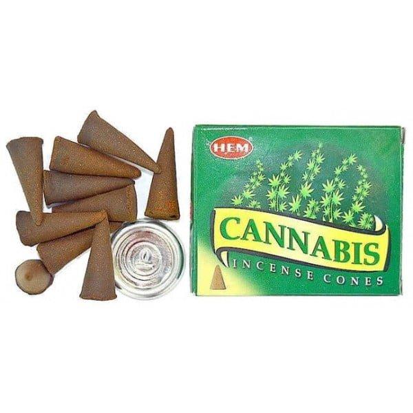 Conuri Parfumate Canabis Palo Santo 10buc