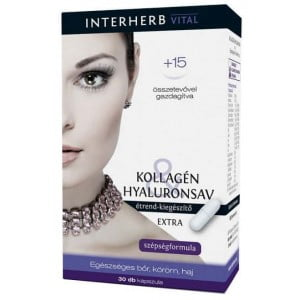 Colagen si Acid Hialuronic Extra Interherb 30cps