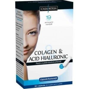 Colagen si Acid Hialuronic Classic Interherb 30cps