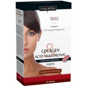 Colagen si Acid Hialuronic Forte Interherb 30cps